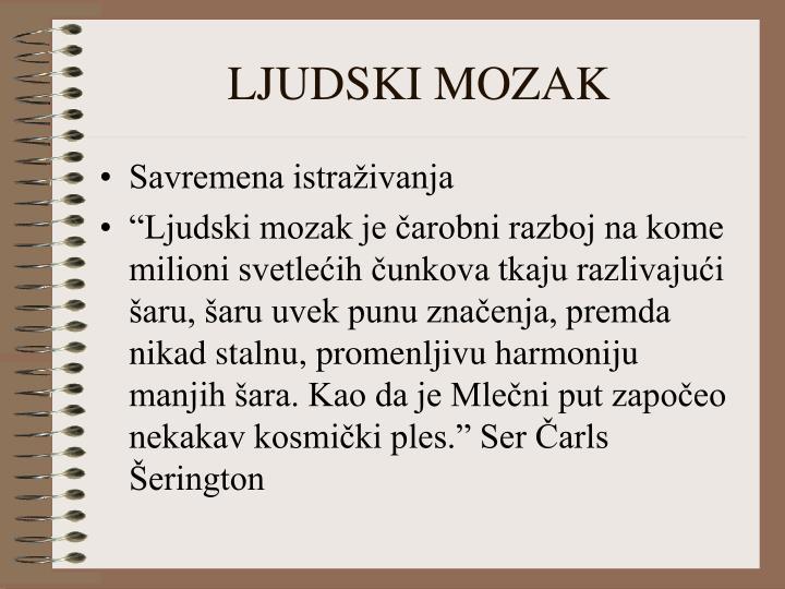 LJUDSKI MOZAK