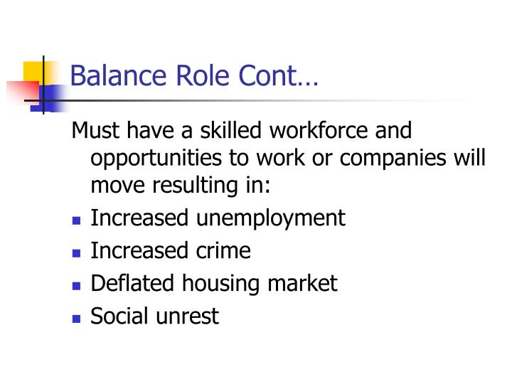 Balance Role Cont…