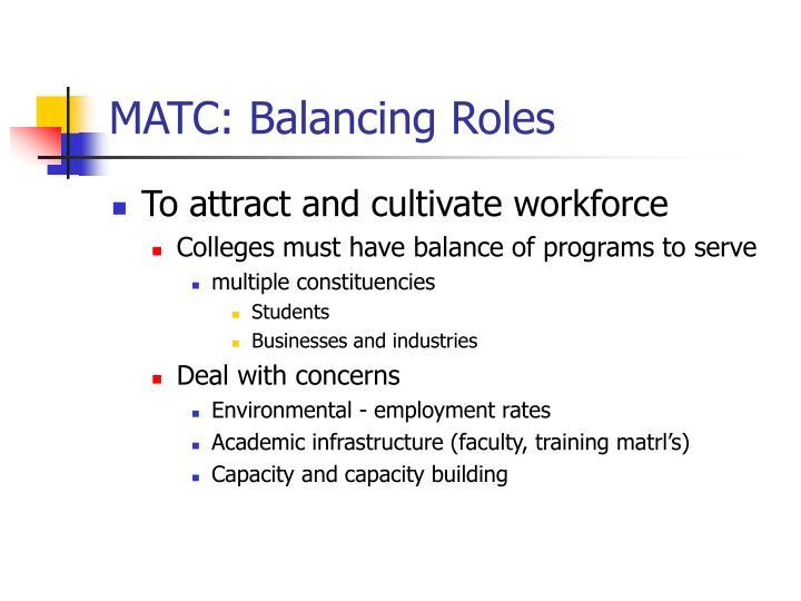 MATC: Balancing Roles
