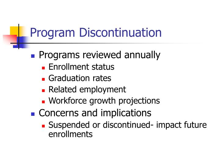 Program Discontinuation