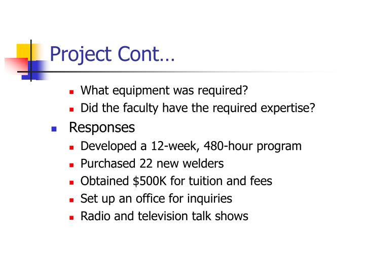 Project Cont…