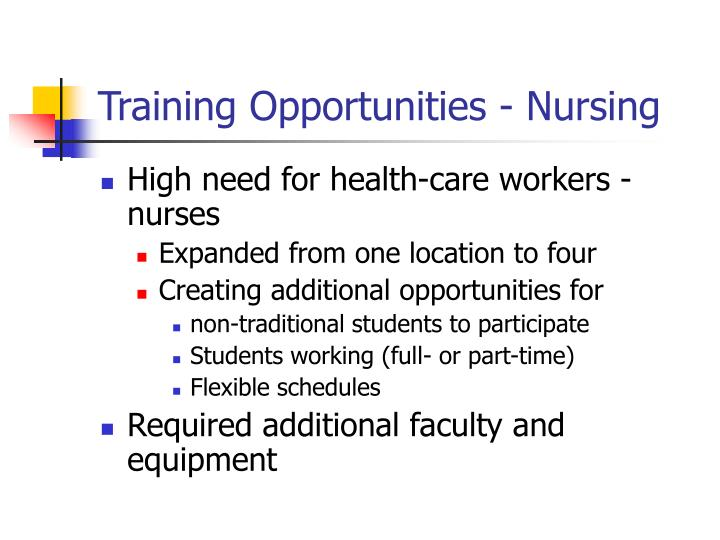 Training Opportunities - Nursing
