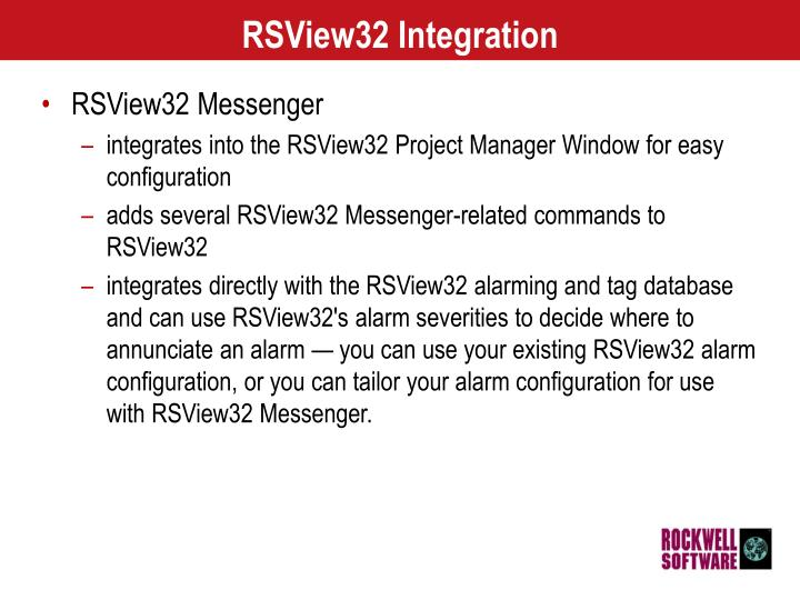 RSView32 Integration
