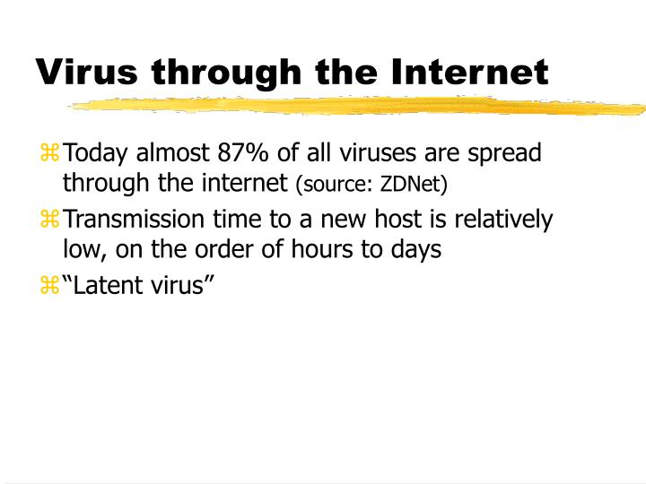 Virus through the Internet