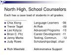 north high school counselors