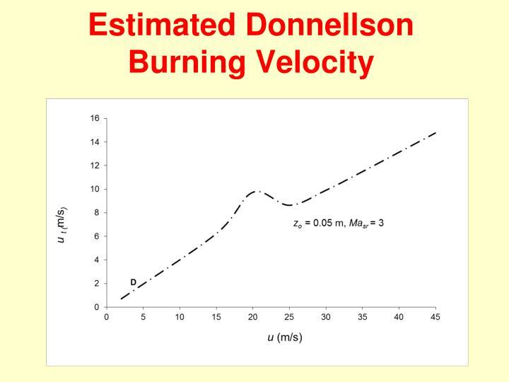 Estimated Donnellson Burning Velocity