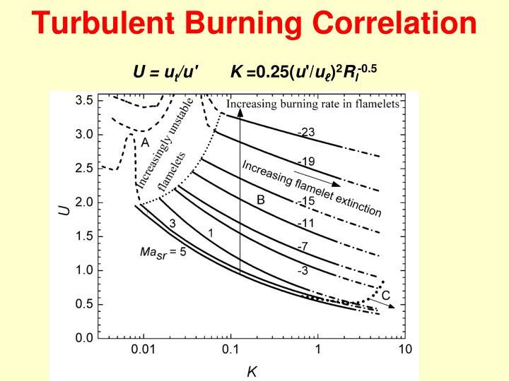 Turbulent Burning Correlation