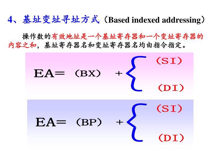 4、基址变址寻址方式