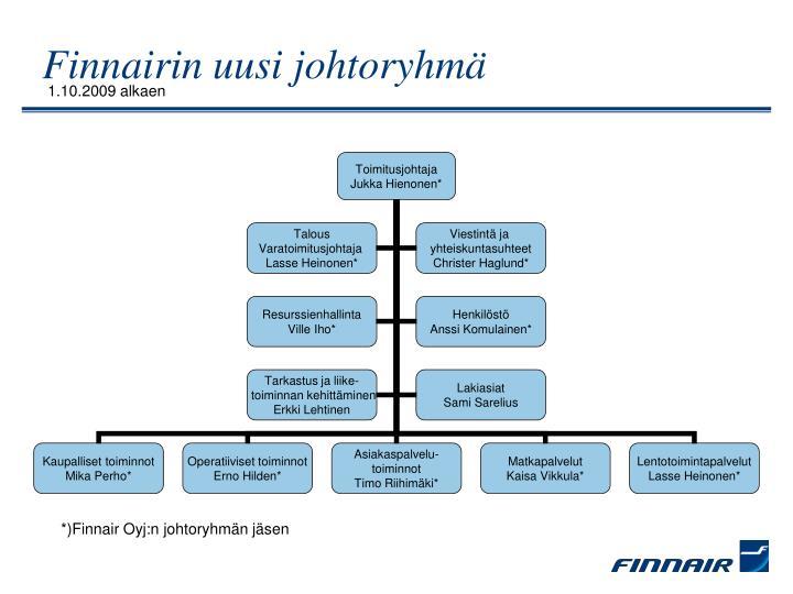 Finnairin uusi johtoryhmä