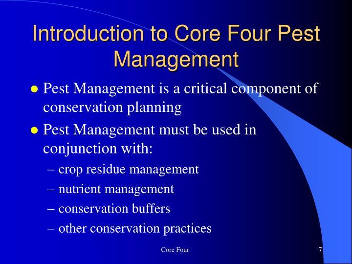 Introduction to Core Four Pest Management