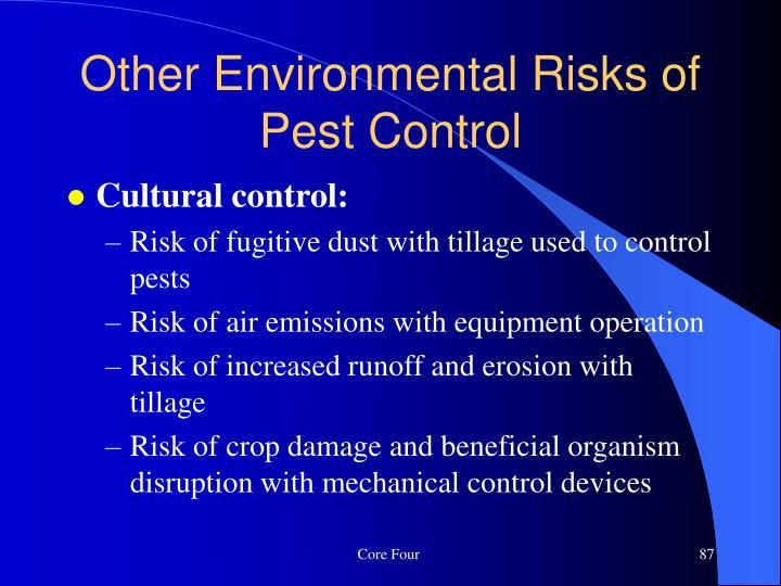 Cultural control: