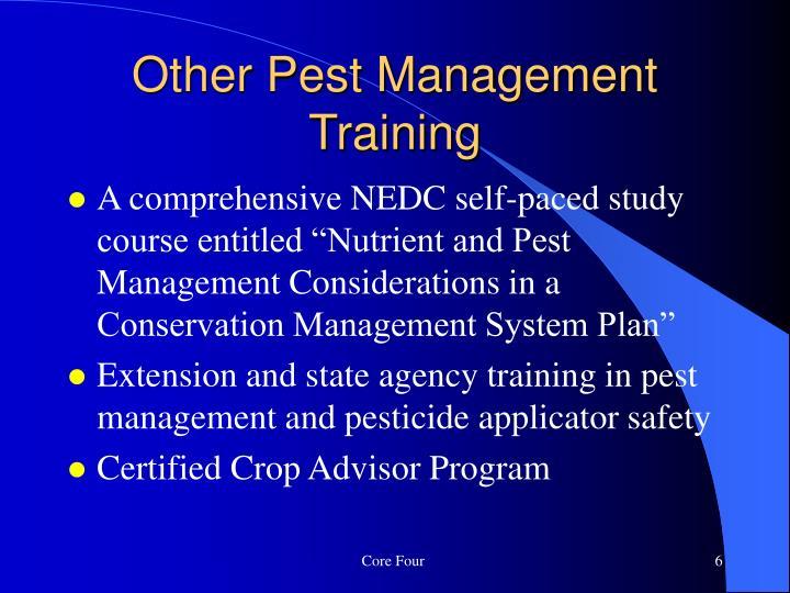 Other Pest Management Training