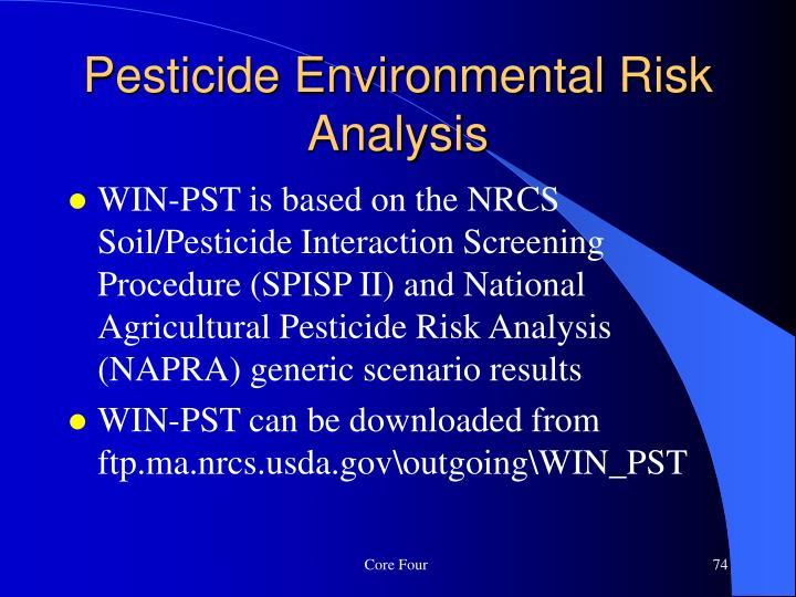 Pesticide Environmental Risk Analysis