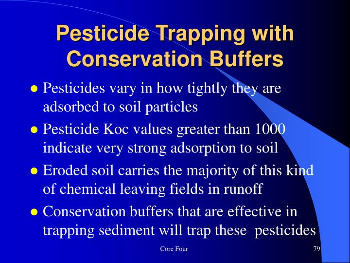 Pesticide Trapping with Conservation Buffers