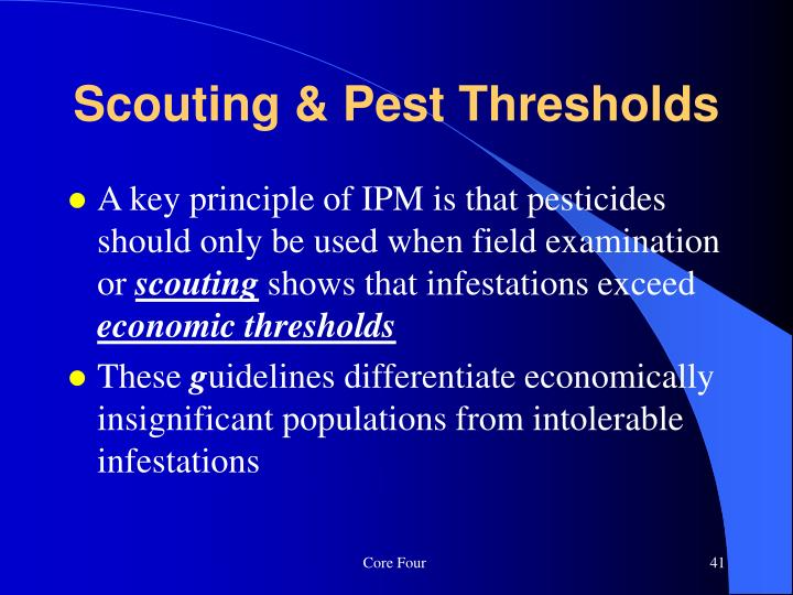 Scouting & Pest Thresholds