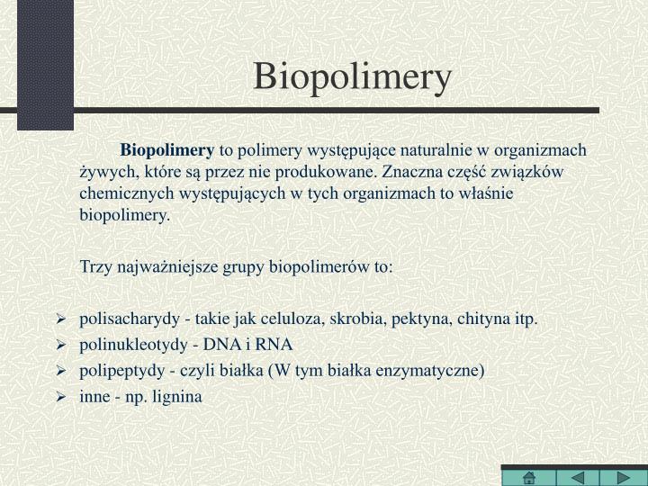 Biopolimery