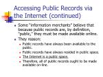 accessing public records via the internet continued