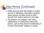 data mining continued1