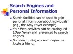 search engines and personal information