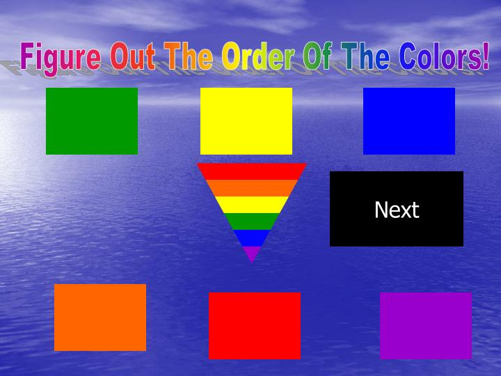 Figure Out The Order Of The Colors!