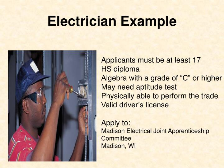 Electrician Example