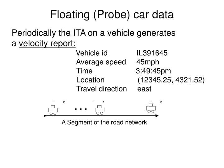 Floating (Probe) car data