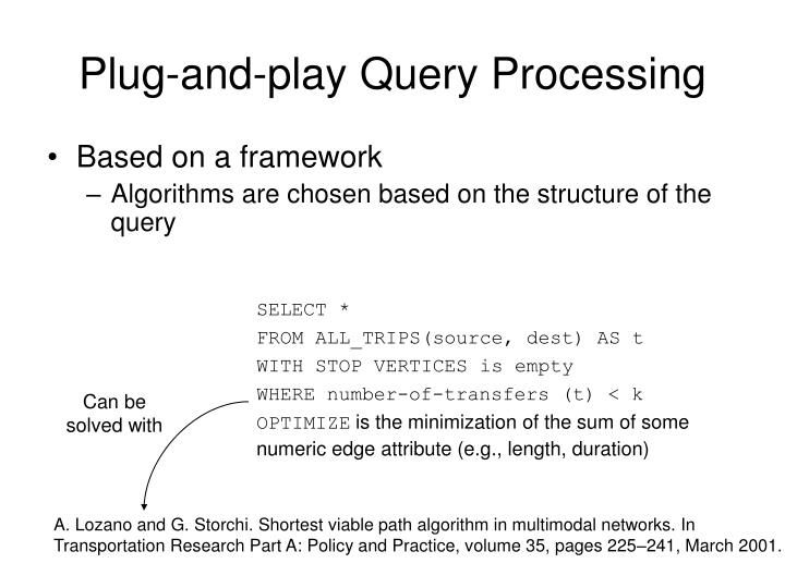 Plug-and-play Query Processing