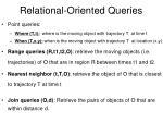 relational oriented queries