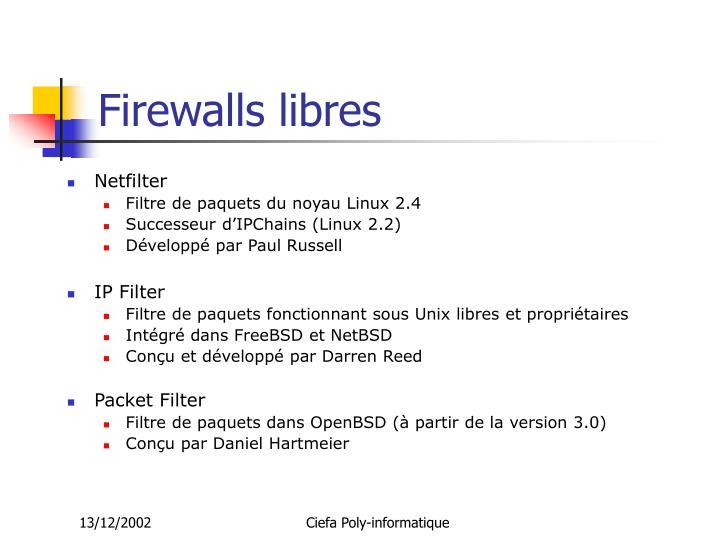 Firewalls libres