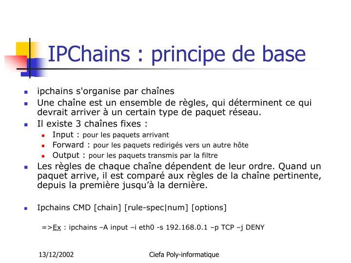 IPChains : principe de base