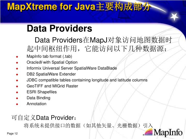 MapXtreme for Java