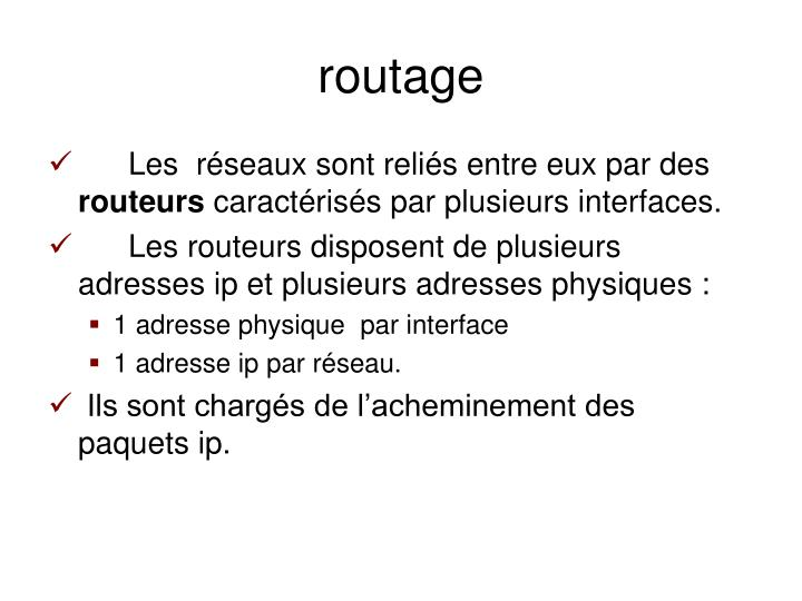 routage
