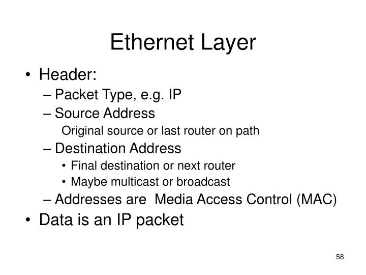 Ethernet Layer