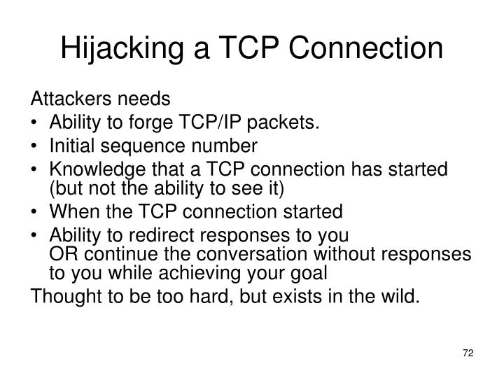 Hijacking a TCP Connection