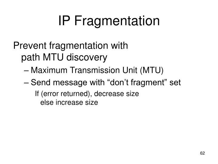 IP Fragmentation