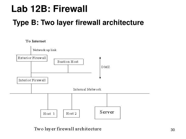 Lab 12B: Firewall