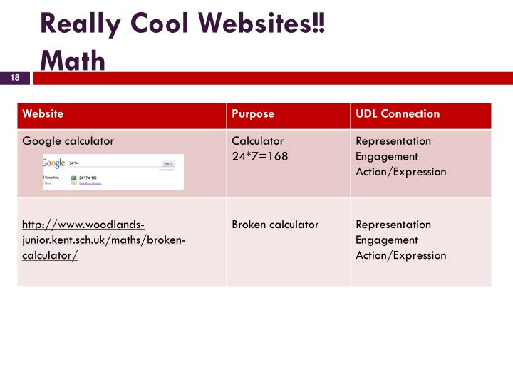 Really Cool Websites!!