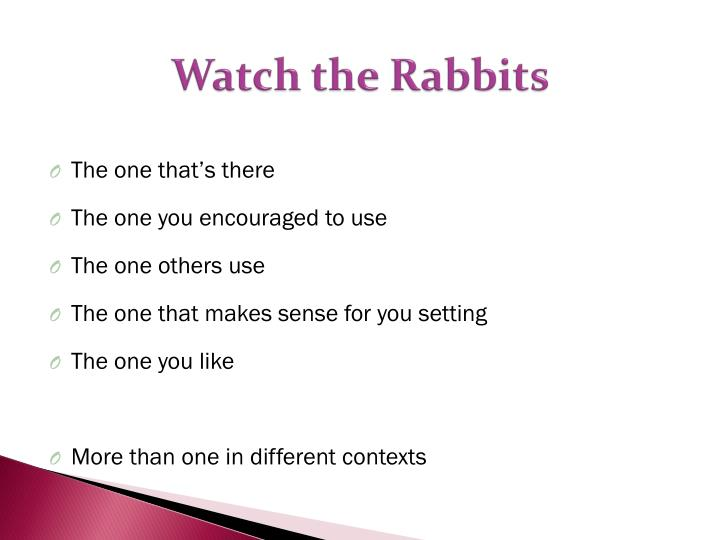 Watch the Rabbits