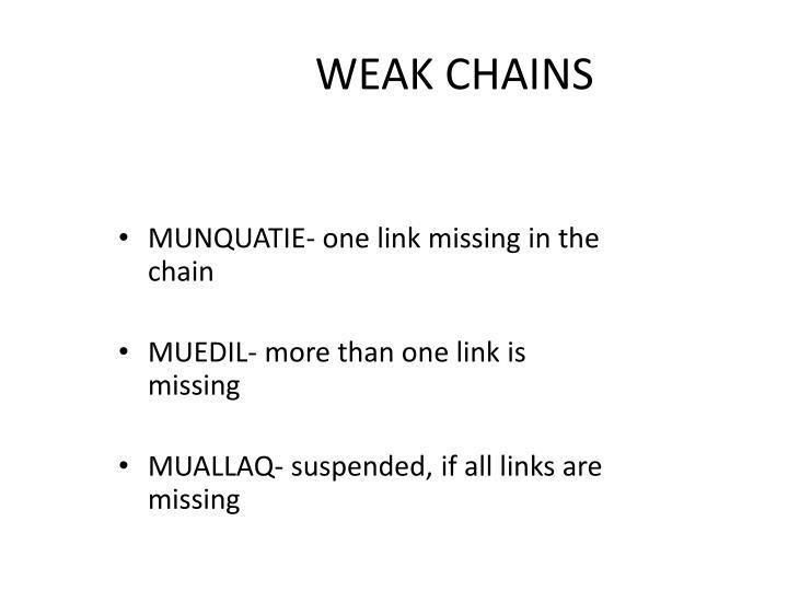 WEAK CHAINS