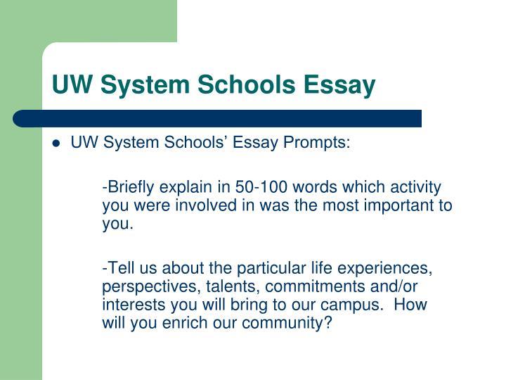 UW System Schools Essay