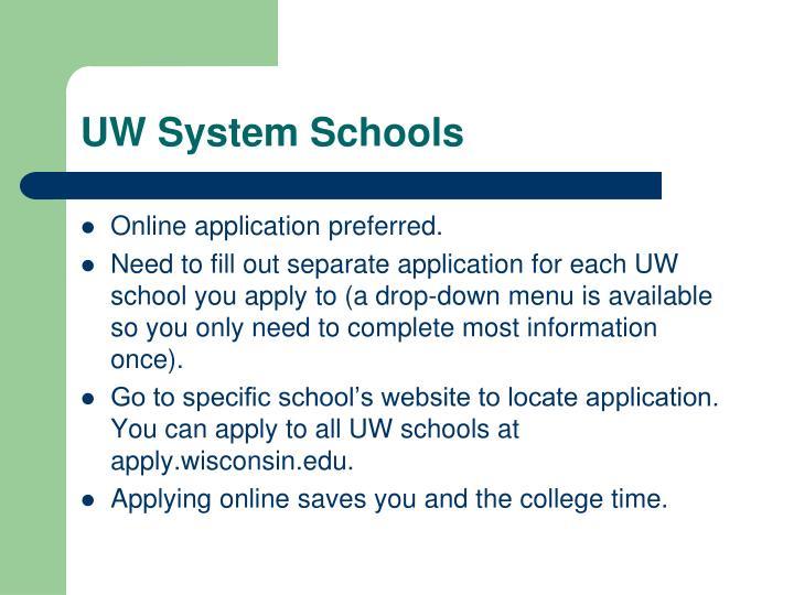 UW System Schools