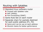 routing with iptables