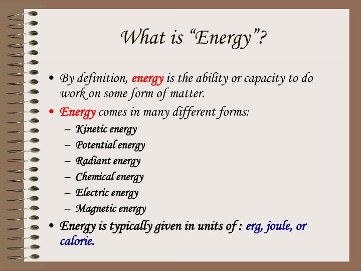 "What is ""Energy""?"