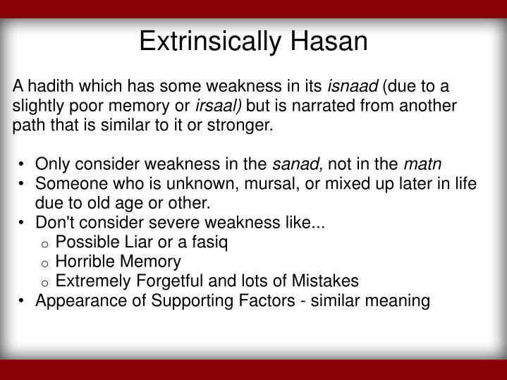 Extrinsically Hasan
