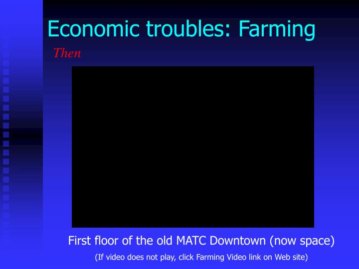 Economic troubles: Farming