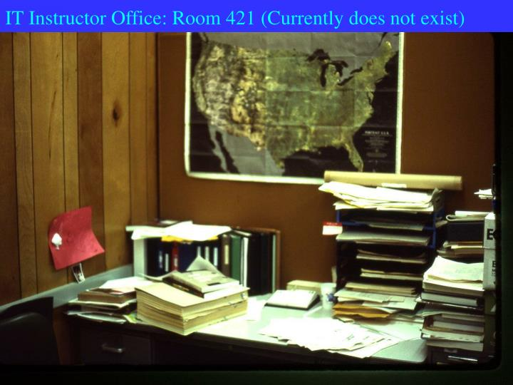 IT Instructor Office: Room 421 (Currently does not exist)