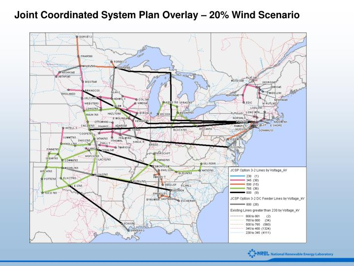 Joint Coordinated System Plan Overlay – 20% Wind Scenario