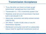transmission acceptance