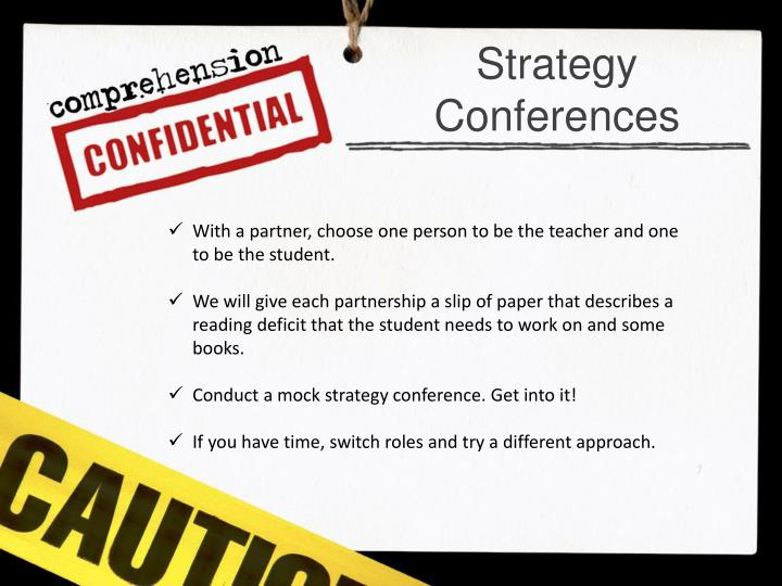 Strategy Conferences