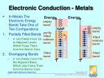 electronic conduction metals